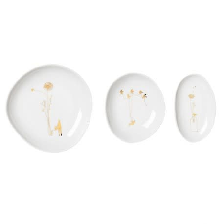 Räder Wonderland bowl set van 3 Gold