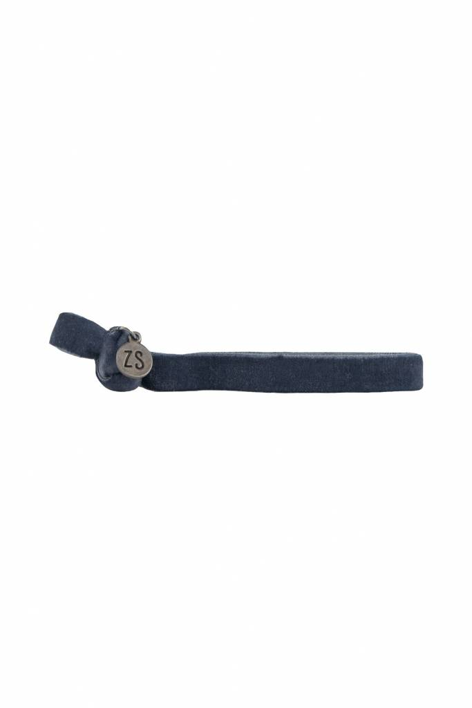 Zusss Armbandje Fluweel Nachtblauw