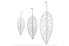 Metal Leaf Set 3 zw