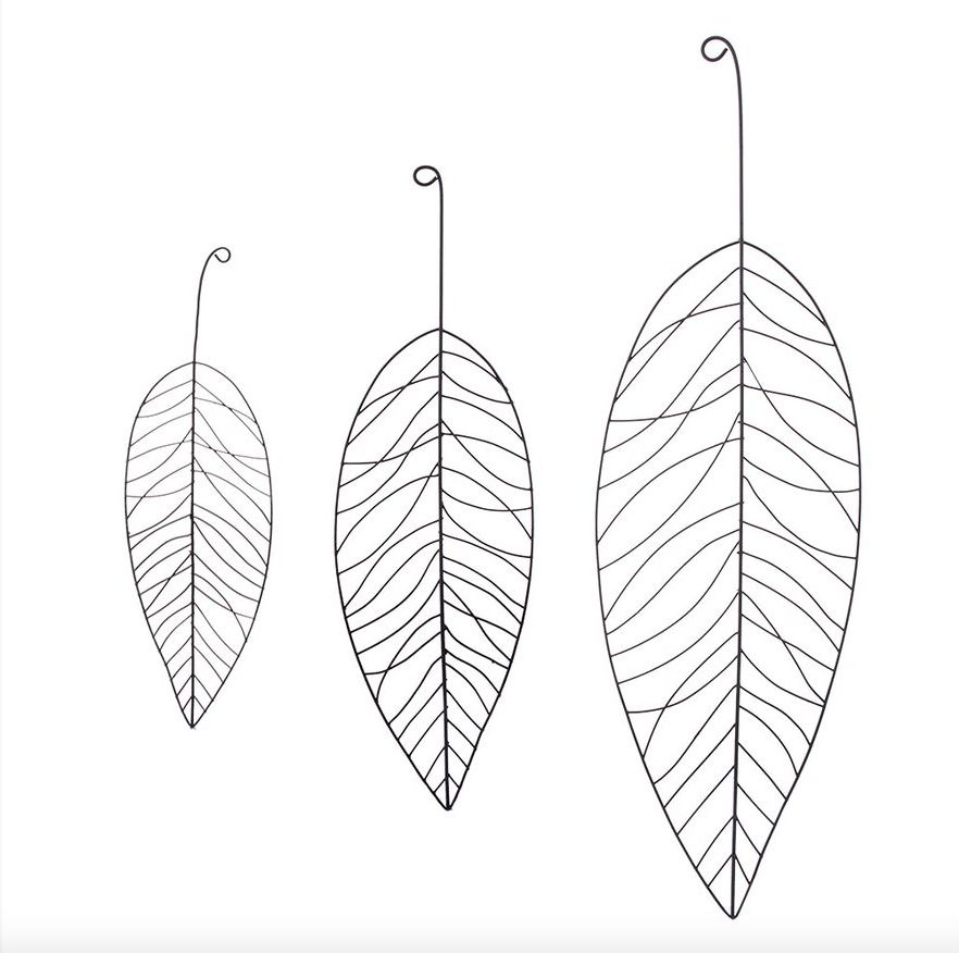 HOME SOCIETY Metal Leaf Set 3 zw