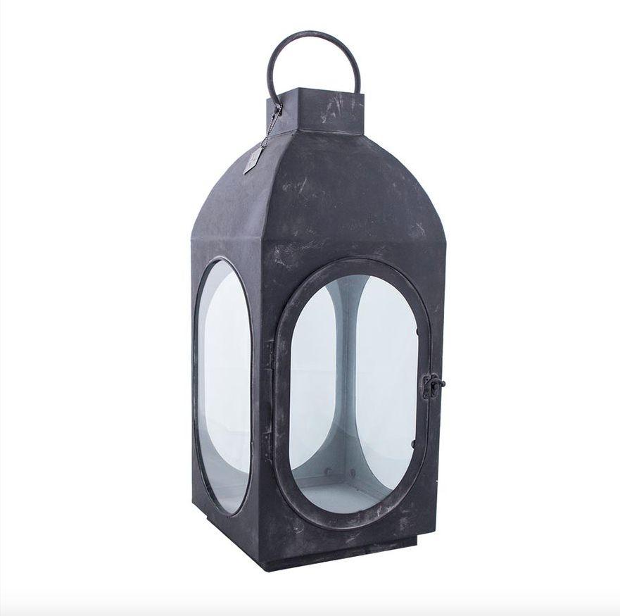 HOME SOCIETY Lantaarn zwart metaal XL