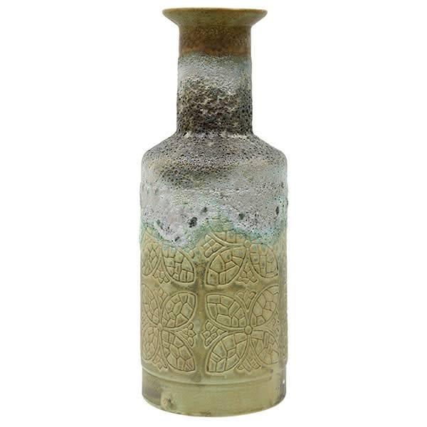 HKliving Handgemaakte vaas met retro patroon van keramiek
