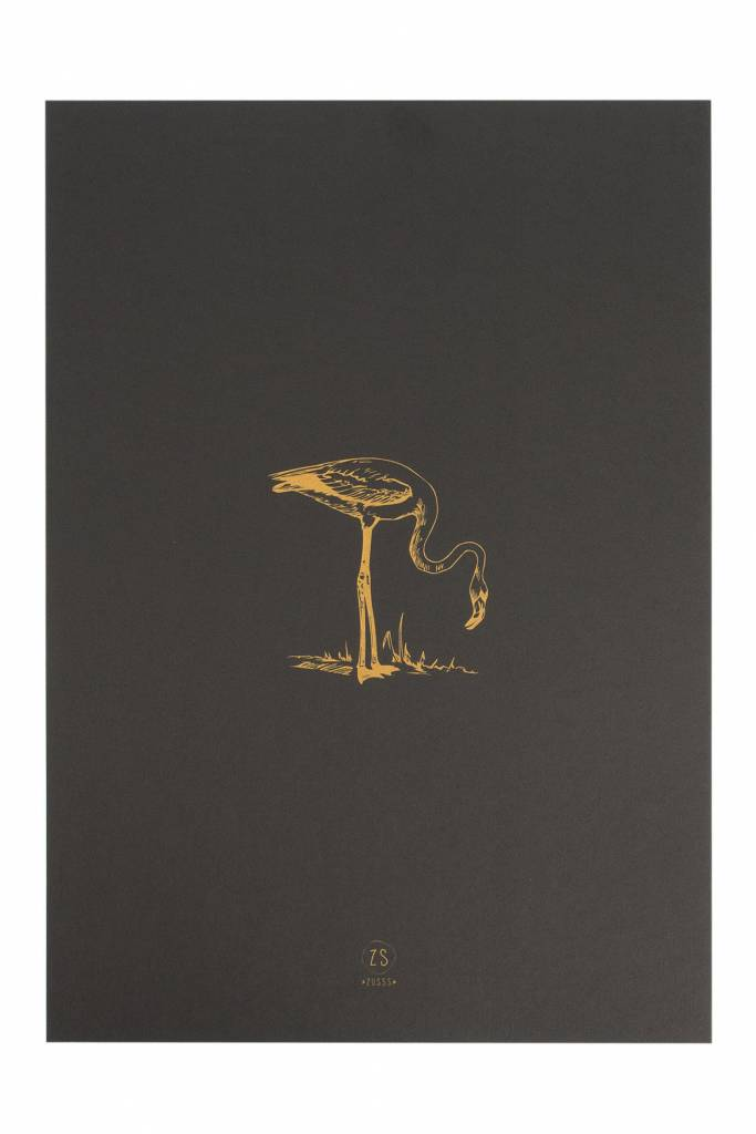 Zusss A3 poster van papier, Flamingo