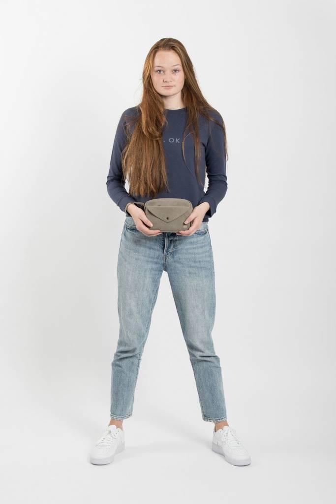 Zusss Handige portemonnee-clutch kleigrijs