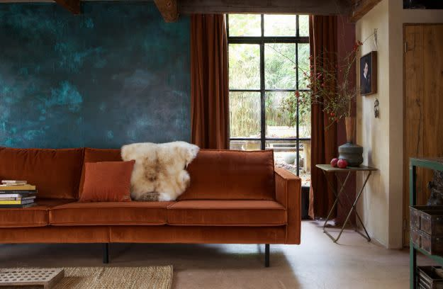 BePureHome Rodeo Bank 3-zits Velvet Roest
