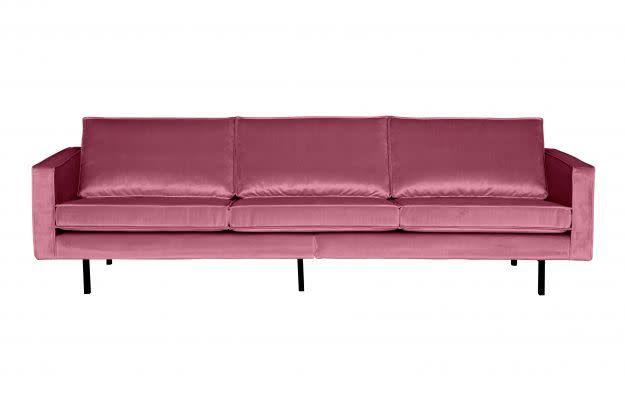 BePureHome Rodeo Bank 3-zits Velvet Pink