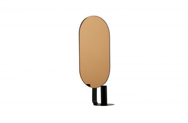 BePureHome Emily Kaarsenh spiegel recht zw/metaal