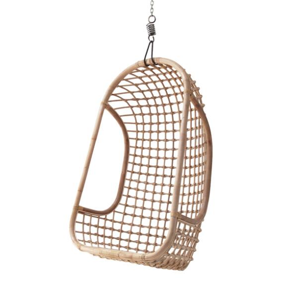 HKliving Rotan hangstoel naturel