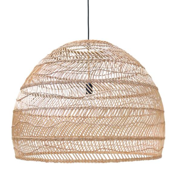 HKliving Handgevlochten rieten hanglamp 80 cm