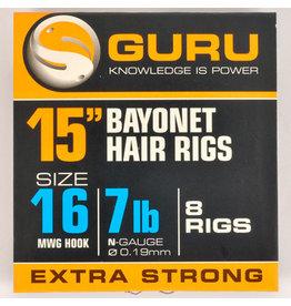 """Guru Guru Ready Rigs 15"""" Bayonet Hair Rig"""