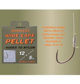 Drennan Drennan Wide Gape Pellet Barbless Hooks to Nylon