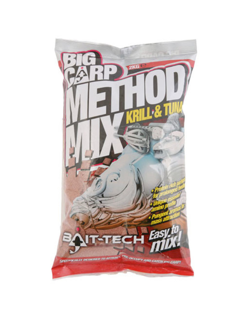 Bait-Tech Bait-Tech Big Carp Method Mix Krill & Tuna 3kg Camo Bucket