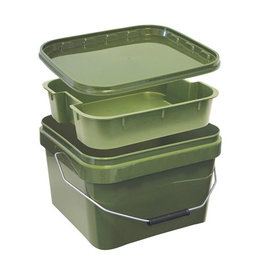 Kent Tackle Kent Tackle Square Bucket & Tray 10ltr
