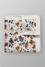 Eton White Floral Cotton & Silk Pocket Square