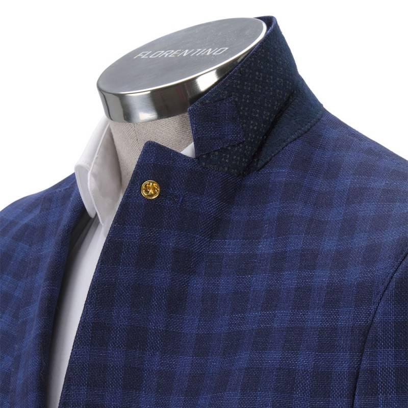 Florentino Royal Blue Checked Jacket