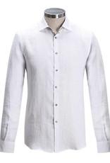 Florentino Long sleeved Linen shirt with flower detail