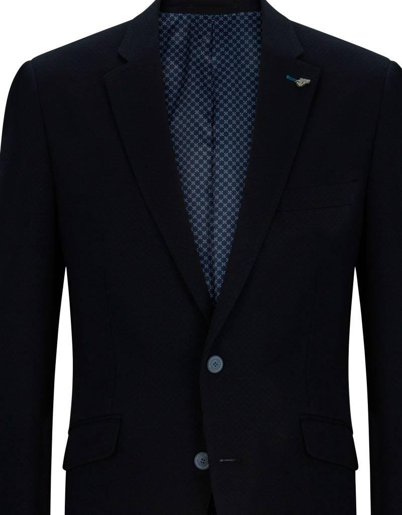 Remus Uomo Navy Tapered Fit Jacket