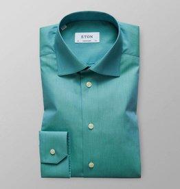Eton Green Zig Zag Satin Shirt
