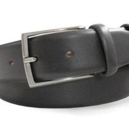 Robert Charles Charcoal leather trouser belt