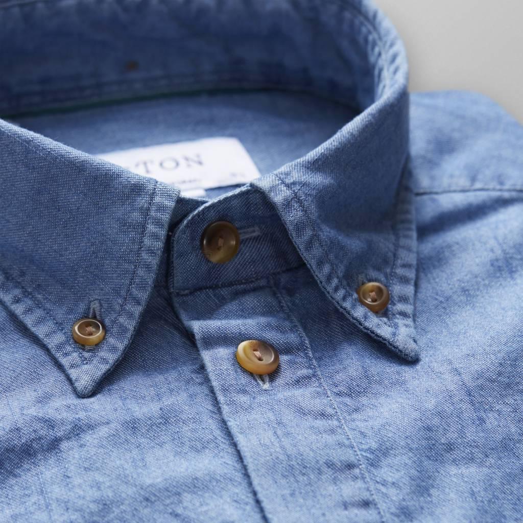 Eton Short sleeve Denim resort collar