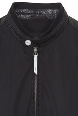Torras Bomber with Leather Sleeve and trim