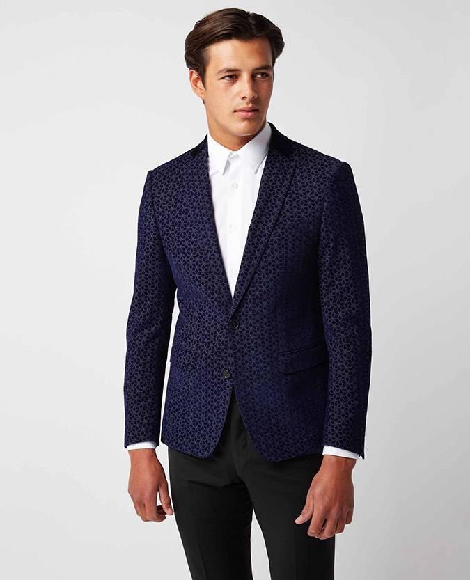 Remus Uomo slim fit blue smoking jacket