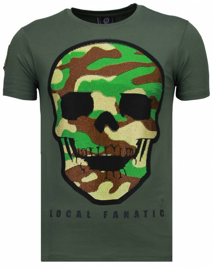 Local Fanatic Local F skull rhinestones