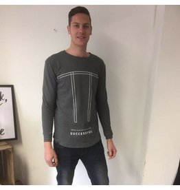 Distinct Distinct Cotton, Logo sweater, Black & Grey