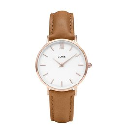 Cluse Cluse, Minuit Rose Gold White/Caramel CL30021