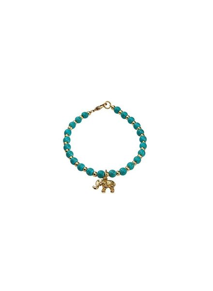 Bulu brands Bulu brands, Love 4 Elephant enkelbandje,  Turquoise