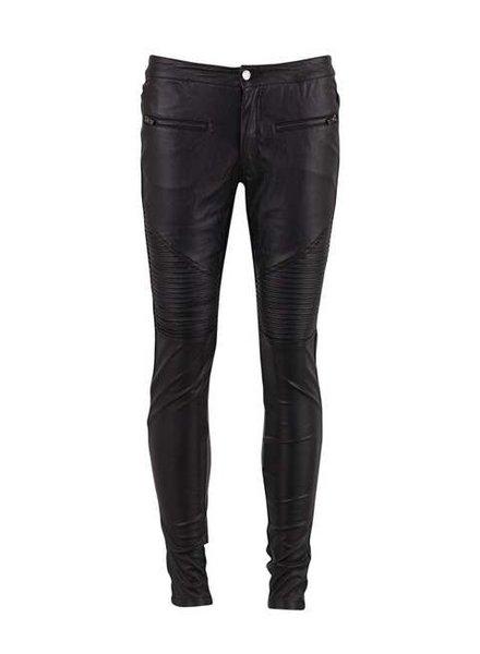 Saint tropez, Faux Leather Pants, Black