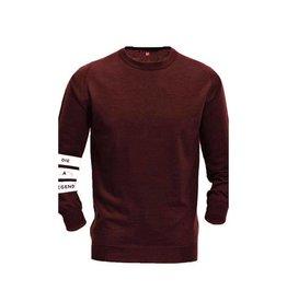 Distinct Distinct Cotton, Die a legend captain sweat, Bordeaux Red