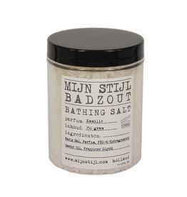 Mijn Stijl Mijn stijl, Badzout parfum Kamille in pot met zwarte deksel