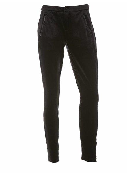 Saint tropez, R5013 Velvet Pants, Glitter Black