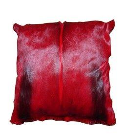 Springbockfell Kissen Rot
