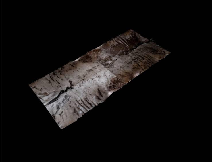 Gnufell Läufer aus zwei Gnufellen gefertigt