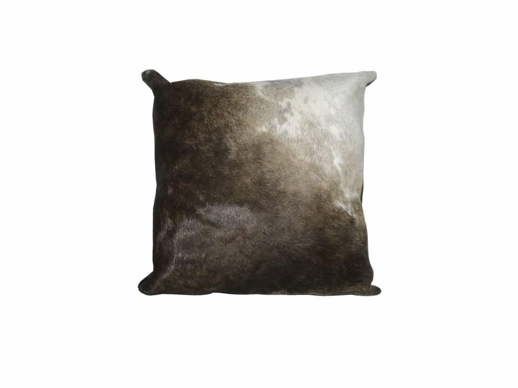 Ngunifell Kissen braun / weiß K020