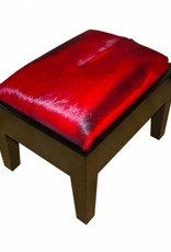 Springbock Hocker Piano Red