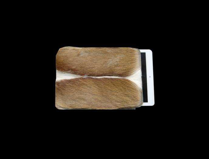 Tablet PC Hülle aus Springbockfell, Mittelteil