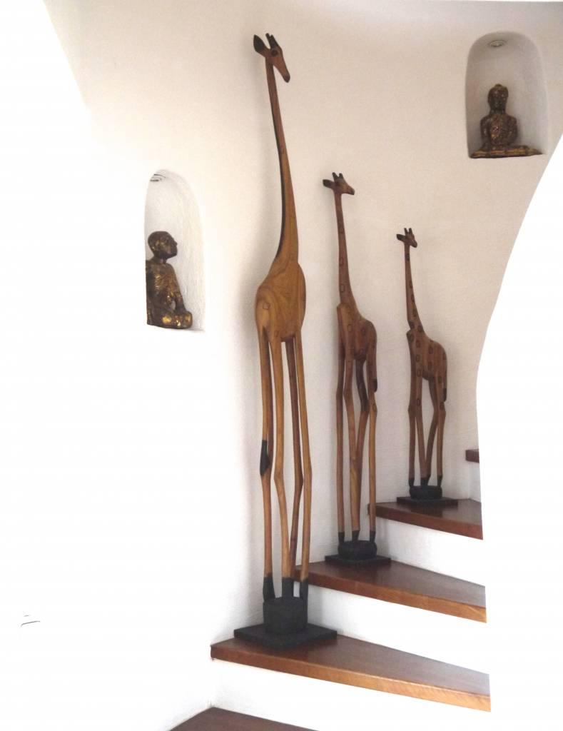 Holzgiraffe aus Afrika 100cm