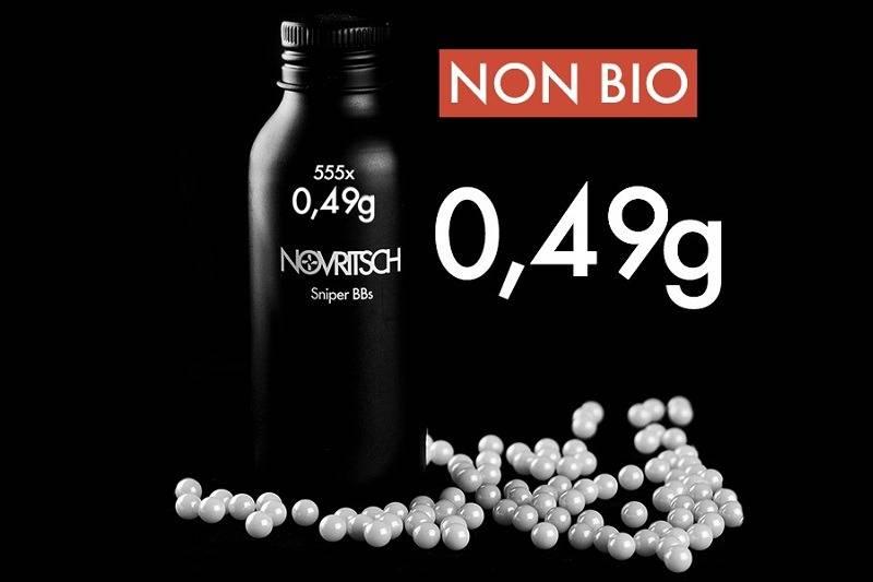 Novritsch 0.49g x 555pcs Sniper BBs - weiss