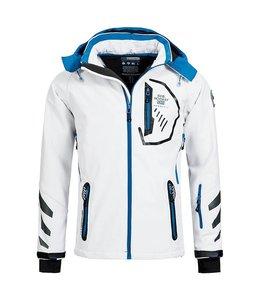 Geographical Norway Softshell Jacket Terouma White/Blue