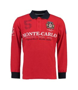 Geographical Norway Longsleeve Polo rood