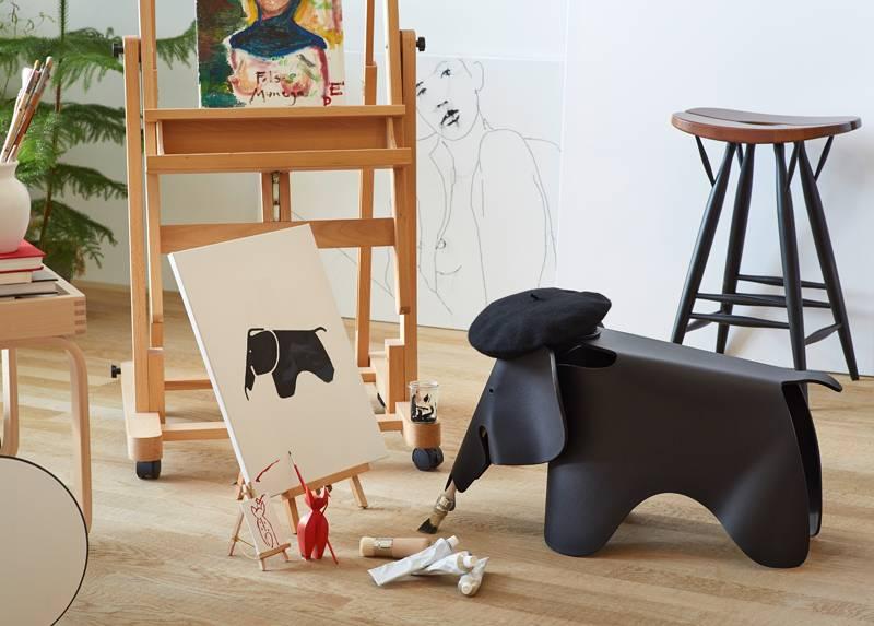 VITRA EAMES ELEPHANT - Zwart