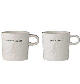 Bloomingville Set Tassen - Coffee Break/Tea Time