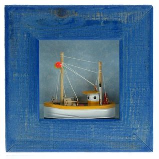 Picture with Trawler, 9x9cm, 3 colours