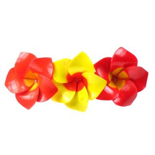 3 Flower Wooden Hairslide