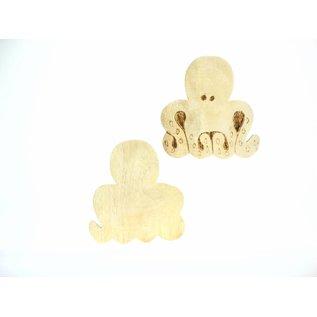 Wooden Octopus  10cm.
