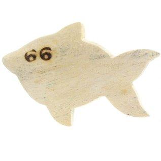 Wooden Guppy fish 5cm. ,