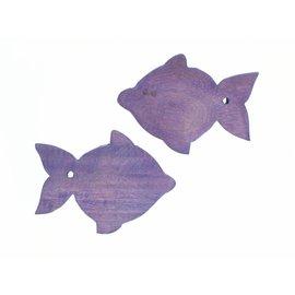 Wooden Lilac Guppy fish 8cm.